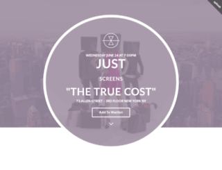 justscreensthetruecost.splashthat.com screenshot