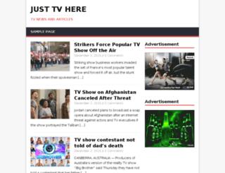 justtvhere.com screenshot