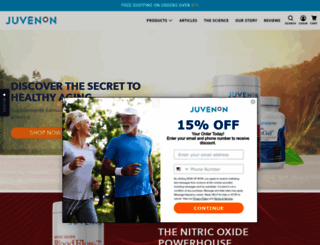 juvenon.com screenshot