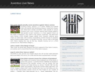 juventuslivenews.com screenshot