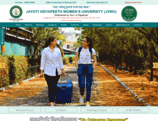 jvwomensuniv.com screenshot