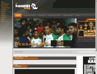 kabaddi.org screenshot