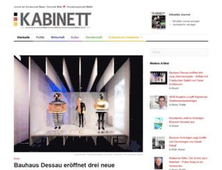 kabinett-online.de screenshot