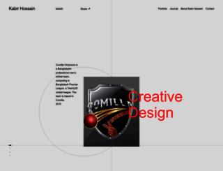 kabirhossain.net screenshot