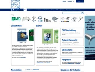 kaden-verlag.de screenshot
