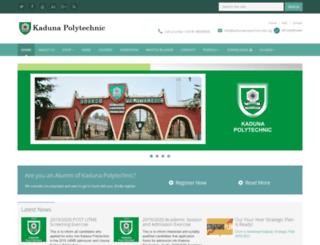 kadunapolytechnic.edu.ng screenshot