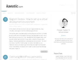 kaeotic.com screenshot
