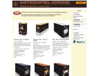 kaffeekapsel-versand.de screenshot