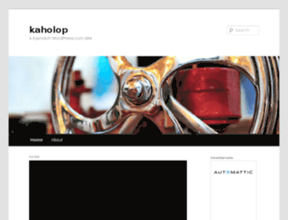 kaholop.wordpress.com screenshot