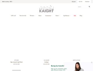 kaightshop.com screenshot