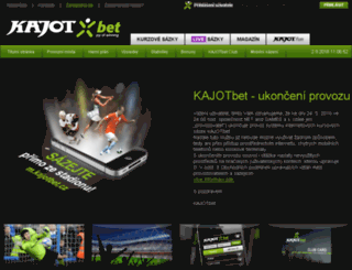 kajotbet.cz screenshot