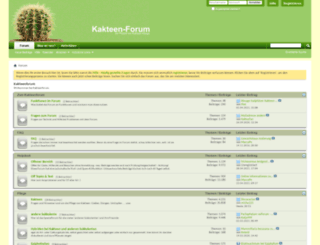 kakteenforum.de screenshot