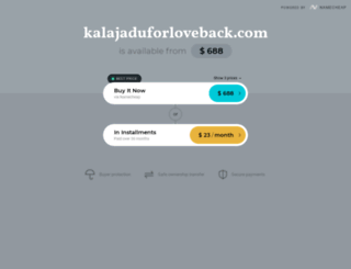 kalajaduforloveback.com screenshot