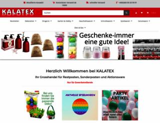 kalatex-shop.de screenshot