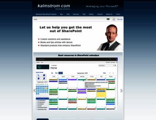 kalmstrom.com screenshot