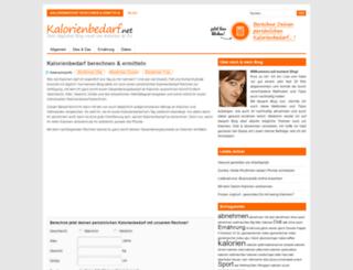 kalorienbedarf.net screenshot