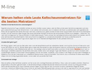 kaltschaummatratzen1.jimdo.com screenshot
