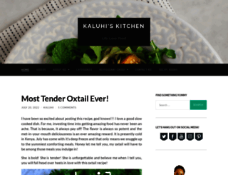 kaluhiskitchen.com screenshot