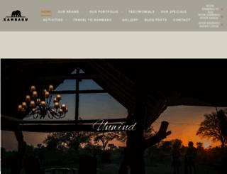 kambakulodge.co.za screenshot