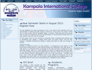 kampalaintercollege.com screenshot
