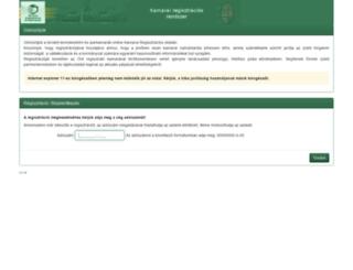 kamreg.hu screenshot