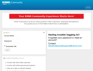 kanacommunity.verint.com screenshot