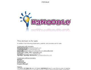 kanoodle.com screenshot
