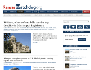 kansas.watchdog.org screenshot