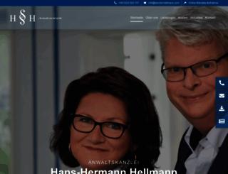 kanzlei-hellmann.com screenshot