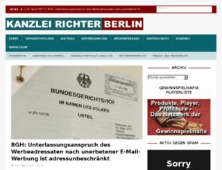 kanzlei-richter.com screenshot
