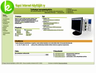 kapsi.fi screenshot