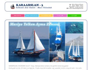 karaarslan3yachting.com screenshot