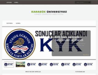 karabukuniversitesi.com screenshot