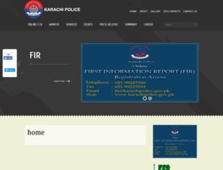 karachipolice.gov.pk screenshot
