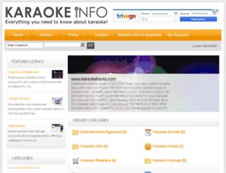 karaokeinfo.co.uk screenshot