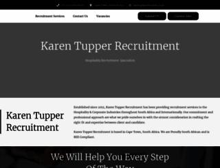 karentupperrecruitment.co.za screenshot