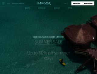 karismahotels.com screenshot