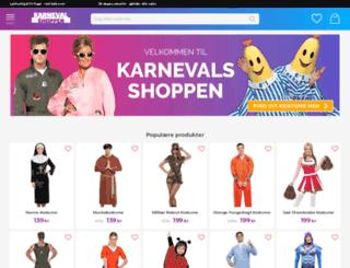 karnevalsshoppen.dk screenshot