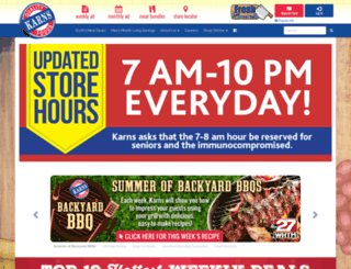 karnsfoods.com screenshot