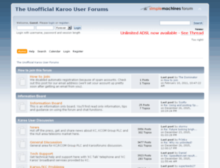 karooforums.net screenshot