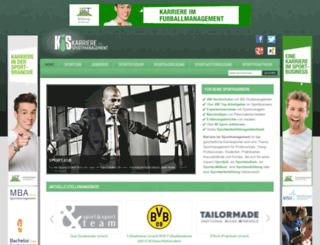 karriere-im-sportmanagement.de screenshot