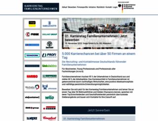 karrieretag-familienunternehmen.de screenshot