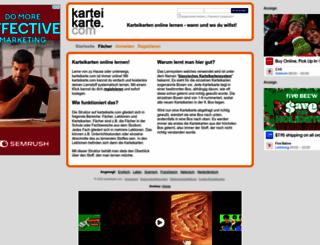 karteikarte.com screenshot