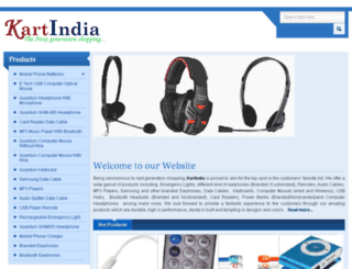 kartindia.co.in screenshot