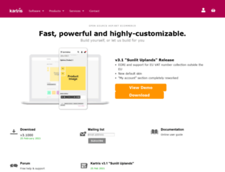 kartris.com screenshot