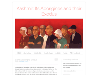 kashmirexodus.wordpress.com screenshot