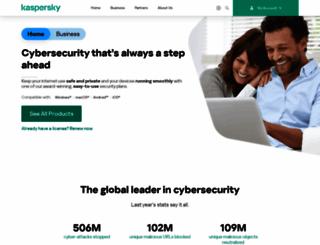 kaspersky.co.uk screenshot