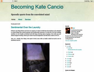 katecancio.blogspot.com screenshot