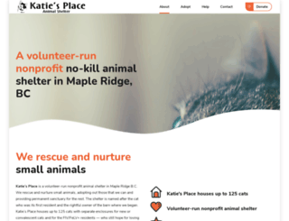 katiesplaceshelter.com screenshot