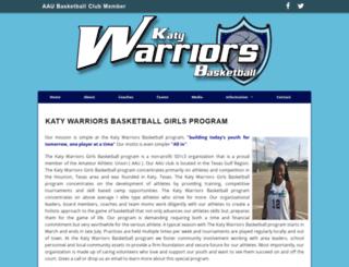 katywarriorsbasketball.com screenshot